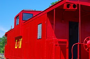 Old Caboose Framed Prints - Red L and N Caboose Framed Print by Russell Ford
