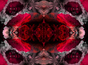 "\""algorithmic Abstract\\\"" Prints - Red lace Print by Claude McCoy"