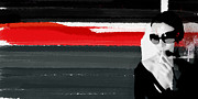 Powerful Painting Prints - Red Line Print by Irina  March