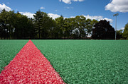 Red Line Prints - Red Line on an Athletic Field Print by Sam Bloomberg-rissman