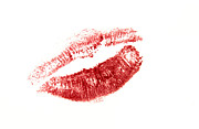 Lipstick Prints - Red lips Print by Bernard Jaubert
