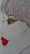 Red Lips Print by Mary Potts