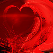 Red Love . Square . A120423.279 Print by Wingsdomain Art and Photography
