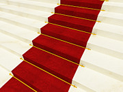 Vip Entrance Prints - Red Luxury Carpet Print by Gualtiero Boffi