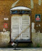Barn Door Painting Prints - Red Man Print by Doug Strickland