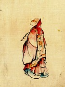 Sketchbook Framed Prints - Red Monk 1840 Framed Print by Padre Art