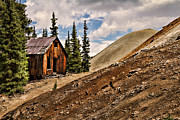 Old Cabins Prints - Red Mountain Mining Shack Print by Lana Trussell