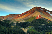 Colorado Landscapes Posters - Red Mountain Poster by Tim Reaves