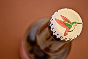 Beer Bottle Cap Art - Red Nectar by Bill Owen
