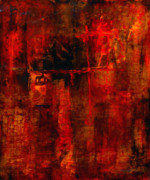 Large Abstract Acrylic Paintings - Red Odyssey by Pat Saunders-White