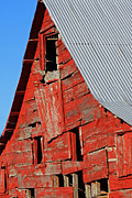 Old Barns Acrylic Prints - Red Old Coat Acrylic Print by Joy Tudor