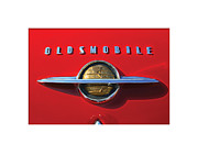 Logo Digital Art - Red Oldsmobile  by Geoff Strehlow