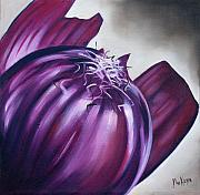 Onion Paintings - Red Onion by Ilse Kleyn