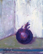 Interior Still Life Painting Metal Prints - Red Onion No. 1 Metal Print by Lawrence Chrapliwy