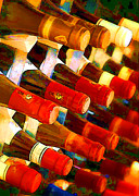 Impressionistic Wine Prints - Red or White Print by Elaine Plesser