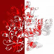 Red Ornament Print by Svetlana Sewell