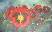 Naila Saeyed - Red Pansies