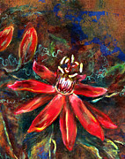 Passionflower Painting Prints - Red Passion Print by Ashley Kujan