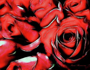 Vivid Colorful Flowers Prints - Red Passion Print by Zeana Romanovna