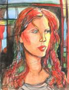 Patricia Mixed Media - Red by Patricia Allingham Carlson