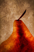 Pear Art Photo Prints - Red Pear I Print by Carol Leigh
