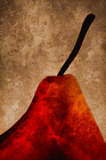Pear Art Metal Prints - Red Pear III Metal Print by Carol Leigh