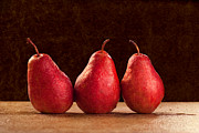 Pear Art Posters - Red Pears Poster by Cindy Singleton