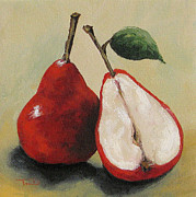 Pear Painting Acrylic Prints - Red Pears Acrylic Print by Torrie Smiley
