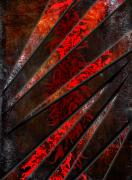Art Glass Picture Prints - Red Pepper Abstract Print by Svetlana Sewell