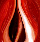 Mixed-media - Red Pepper Abstract1 by Linnea Tober