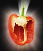 Detoxification Prints - Red Pepper Print by Victor De Schwanberg