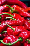 Grocery Store Prints - Red Peppers Print by Don Schwartz