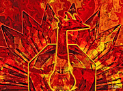 Johnny Trippick Art - Red Phoenix Rising by Johnny Trippick