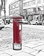 Mail Box Posters - Red Pillar Box Poster by Paul Hemmings