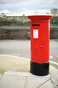 Communication Photos - Red Pillar Post Box by Tom and Steve