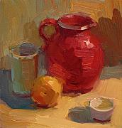 Warm Colors Paintings - Red Pitcher by Kathryn Townsend