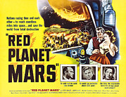 1950s Movies Framed Prints - Red Planet Mars, Herbert Berghof, Peter Framed Print by Everett