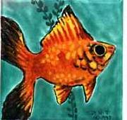 Goldfish Ceramics - Red Platy by Dy Witt