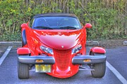 Classic Car.hot-rod Photos - Red Plymouth Prowler by Pictures HDR