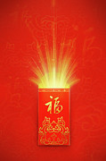 Traditional Culture Digital Art - Red Pocket For Chinese New Year by BJI/Blue Jean Images