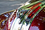 Vintage Pontiac Metal Prints - Red Pontiac  Metal Print by Cathie Tyler