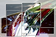 Vintage Pontiac Metal Prints - Red Pontiac Hood Ornament Metal Print by Cathie Tyler