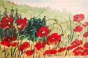 Lynn Beazley Blair - Red Poppies in Fieldl