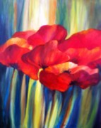 Patricia Lyle Art - Red Poppies by Patricia Lyle