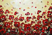 Christine Krainock Prints Framed Prints - Red Poppy Dance Framed Print by Christine Krainock
