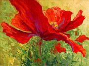 Spring Landscape Art - Red Poppy I by Marion Rose