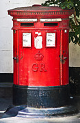 Mail Box Photo Metal Prints - Red Post Box Metal Print by Dawn OConnor