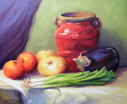 Edna Garrett - Red Pot in Still Life