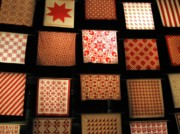 Folkart Photos - Red Quilts 2 by Maria Scarfone