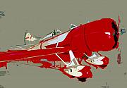Airplane Prints - Red racer Print by David Lee Thompson